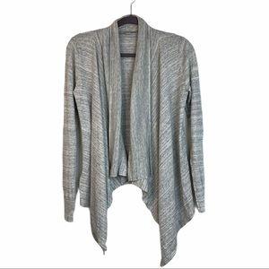 Loft  Asymmetrical Open Front Cotton Cardigan